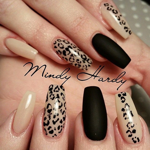 50 stylish leopard and cheetah nail designs for creative juice leopard and cheetah print nail designs prinsesfo Gallery
