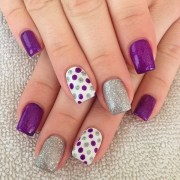 chosen purple nail art design