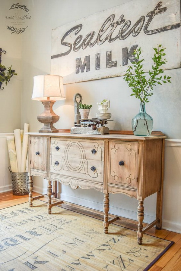 Rustic Sideboard Makeover.