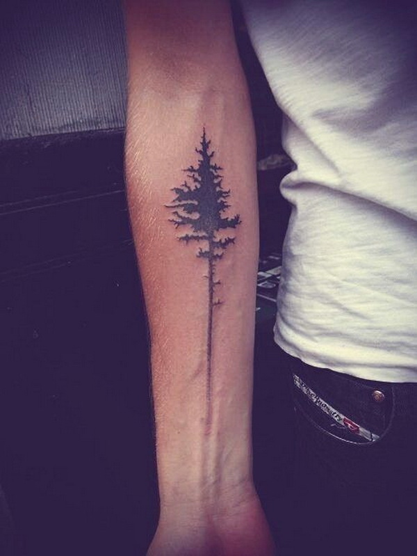 Minimalist Tree Tattoo on the Forearm.What a cool tattoo design idea!  Love it very much! This will be my next tattoo design. via https://forcreativejuice.com/awesome-forearm-tattoo-designs/