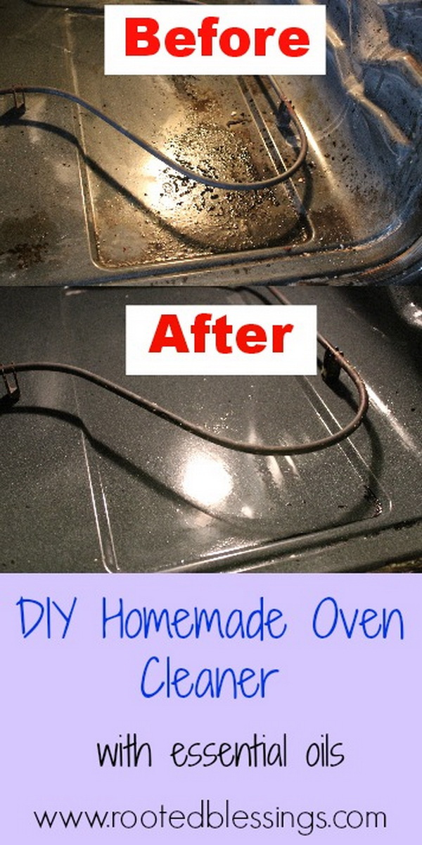 DIY Homemade Oven Cleaner with Essencials. Making your own household products and save a ton of money on the essentials. Get the recipes from for creativejuice.com