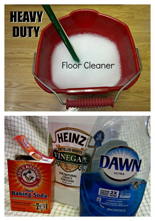 Heavy Duty Floor Cleaner DIY. Making your own household products and save a ton of money on the essentials. Get the recipes from for creativejuice.com