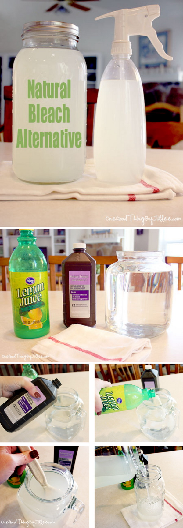 A Natural Bleach Alternative with Lemon juice and Peroxide. Making your own household products and save a ton of money on the essentials. Get the recipes from for creativejuice.com