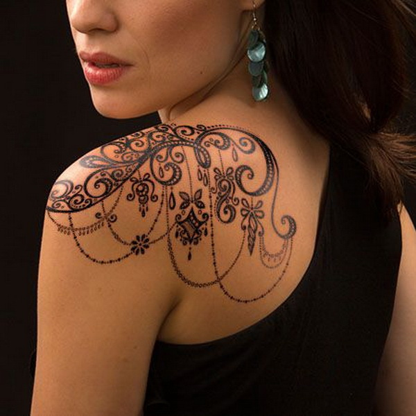 Tattoo Ideas For Women: 30+ Lace Tattoo Designs For Women