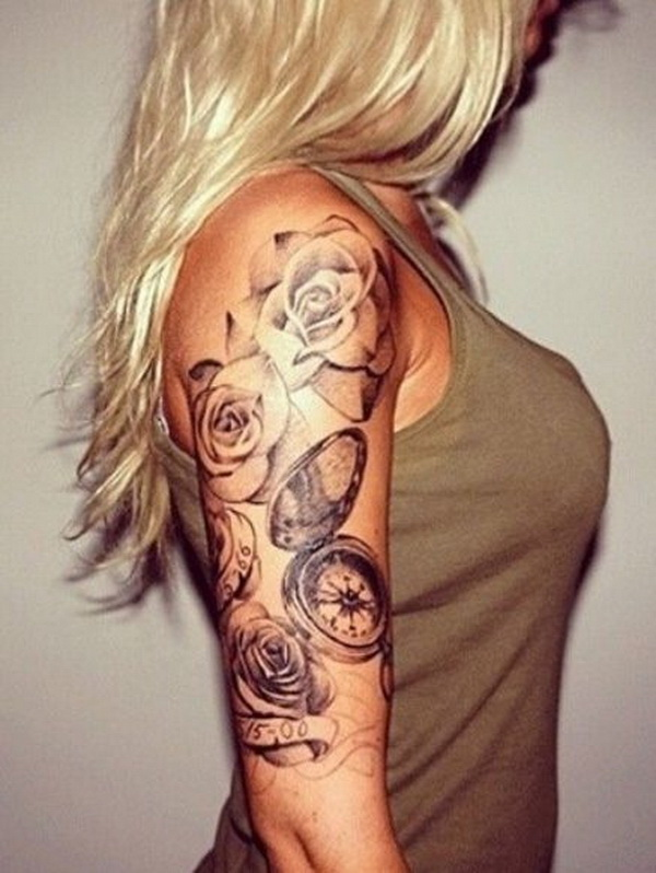 30 cool sleeve tattoo designs for creative juice for Tattoo sleeve ideas girl