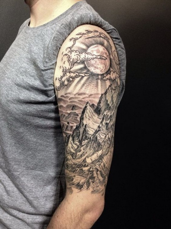 Half Sleeve Tattoo For Men. www. http://forcreativejuice.com/cool-sleeve-tattoo-designs/