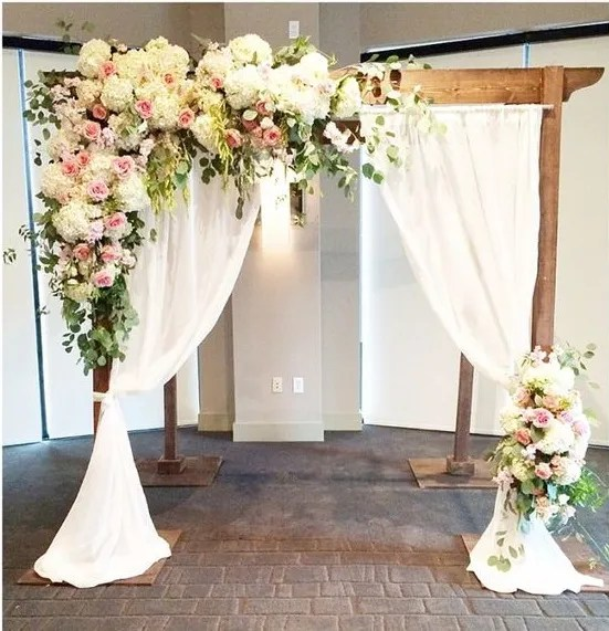 20 beautiful wedding arch decoration ideas for creative for Floral wedding decorations ideas