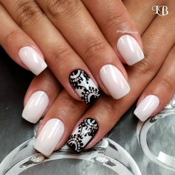 20 Romantic Lace Nail Designs For Creative Juice