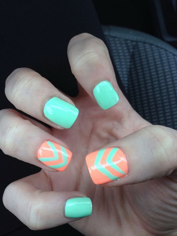 60+ Beautiful Chevron Nail Art Designs - For Creative Juice