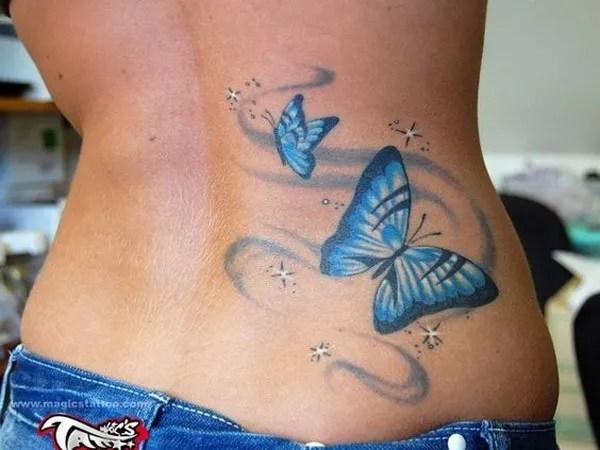 Butterfly Lower Back Tattoo.