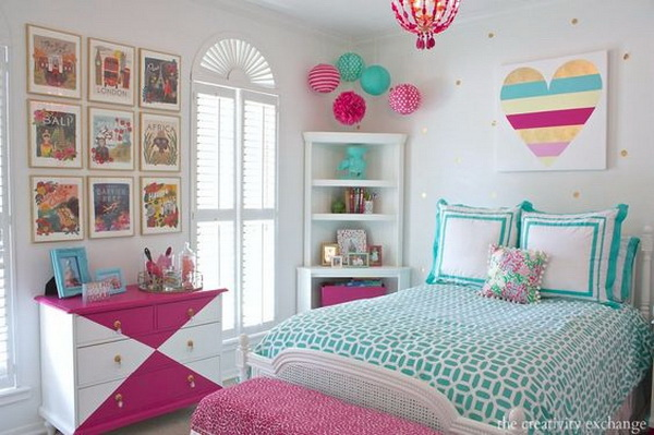 40+ Beautiful Teenage Girls' Bedroom Designs - For ... on Teenage Girls Room Decor  id=90925
