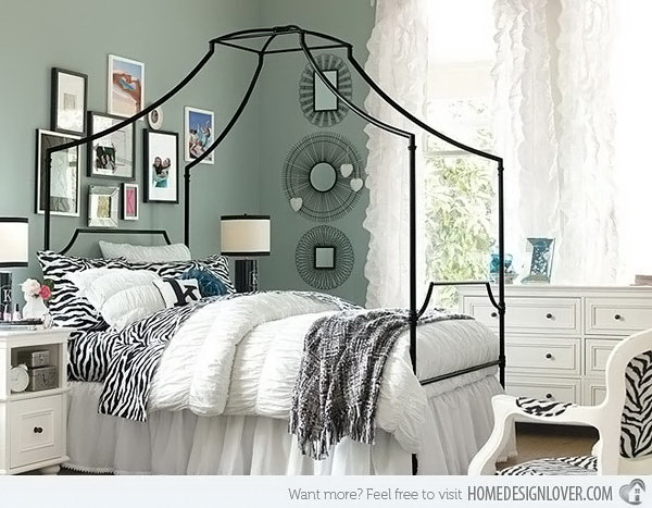 Maison Zebra Bedroom. A Kind Fashionable Bedroom With Animal Printed  Accessories, Wire Graphic Mirrors