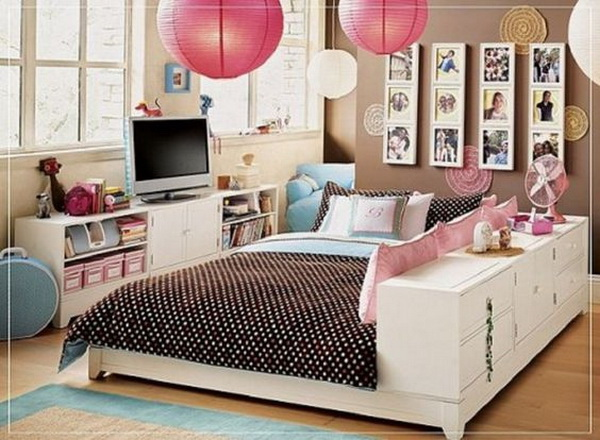 Minimalist Closet Storage Bed: Cool Bedroom Ideas For Teenage Girls.