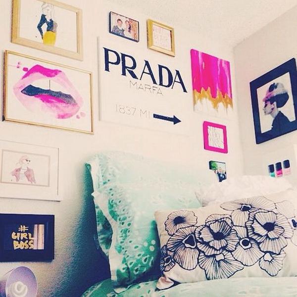 Stylish wall art decor for teenage girls' bedroom. Sleep in style every night!