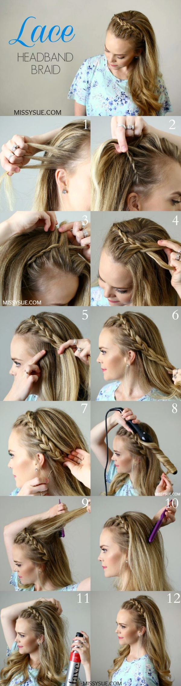 Lace Headband Braid.