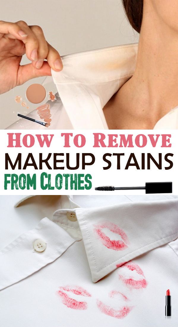 How to Remove Makeup Stains from Clothes.