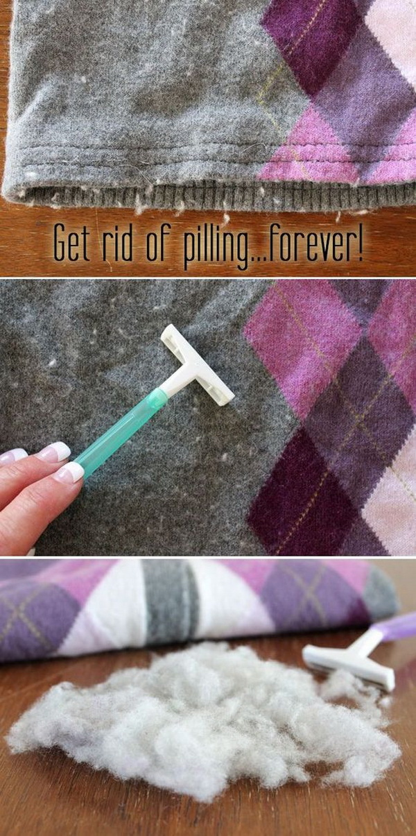 Remove the Dreaded Pilling From Your Clothes: It is so annoying when your favorite sweaters are covered in those dreaded pills. But don't worry. Here is a genius trick to show you how to easily get the pills off your sweater and let them look like new again.