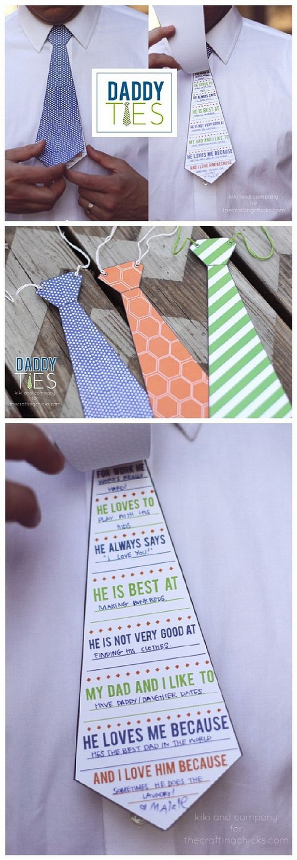Father's Day Printable Card -Daddy Ties.