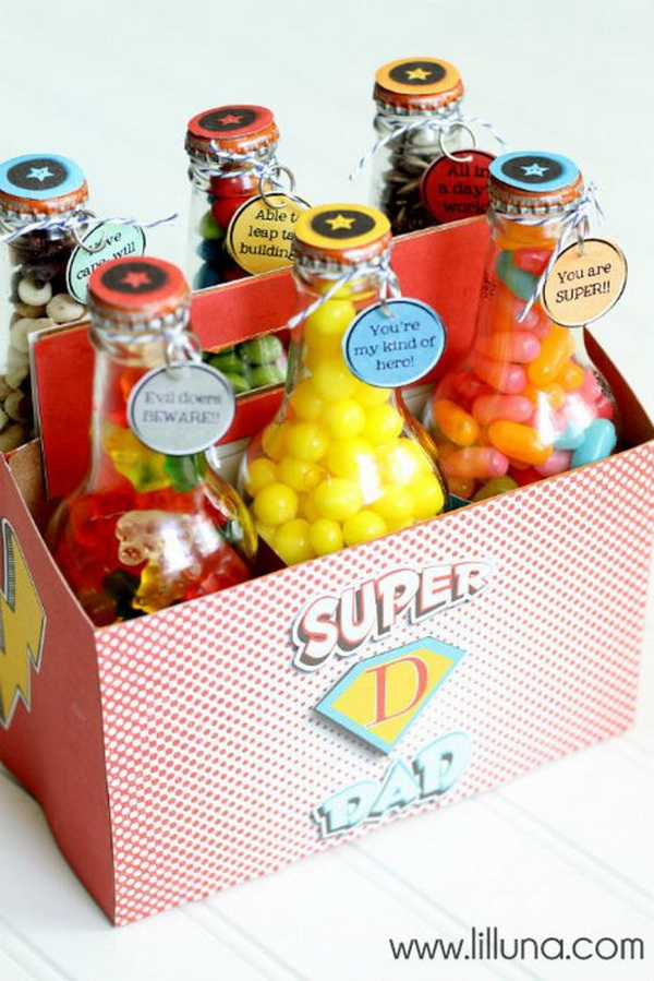 DIY Father's Day Super Dad Pop Box Set with Printables.