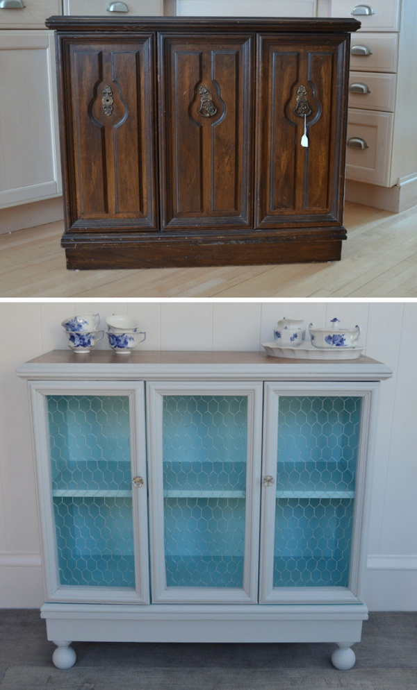 Old Cabinet Makeover: What a cool and elegant DIY furniture for your home! Super gorgeous!