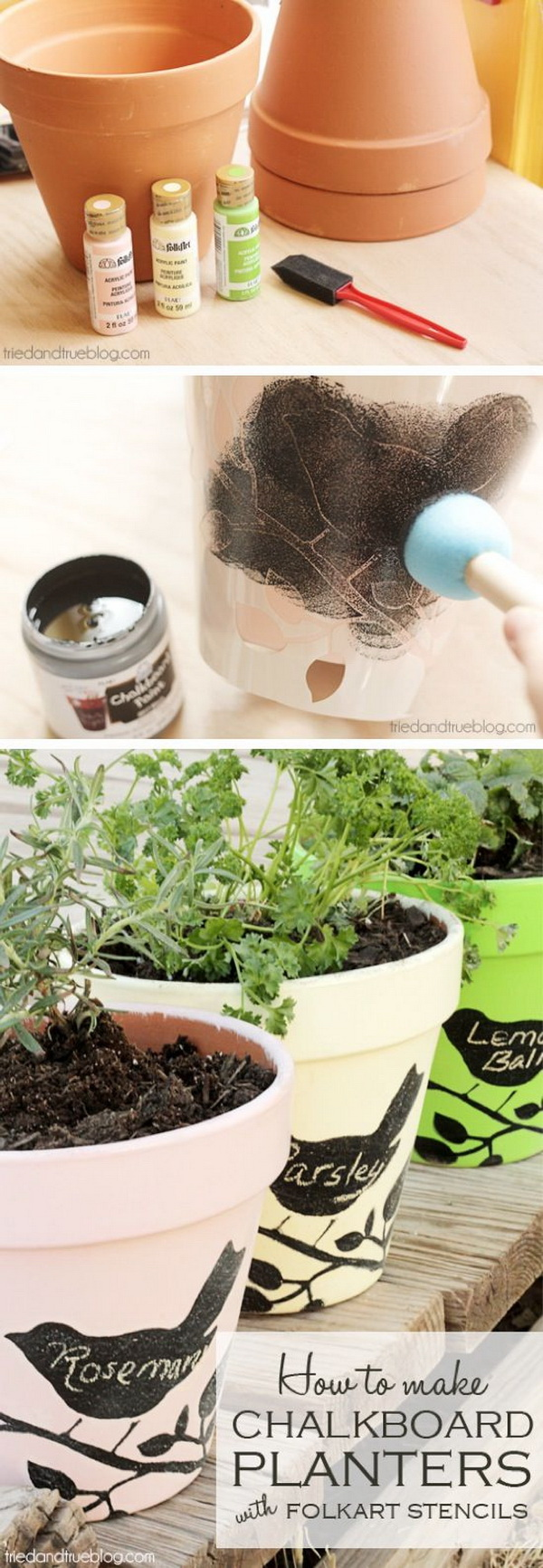 Chalkboard Painted Terracotta Pot Planters. & 17 Creative Ideas to Decorate with Terra Cotta Flower Pots - For ...