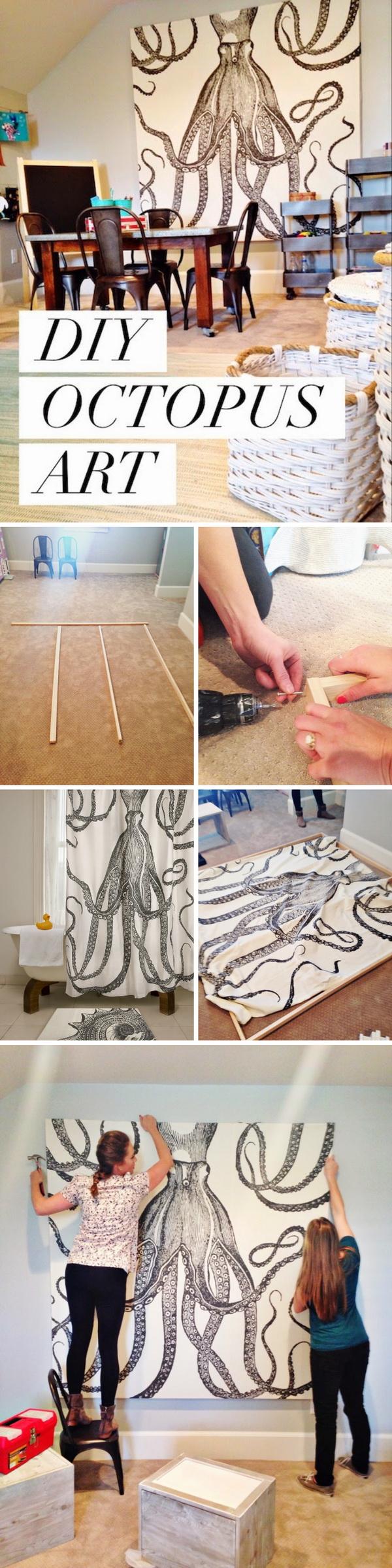 DIY Octopus Wall Art.