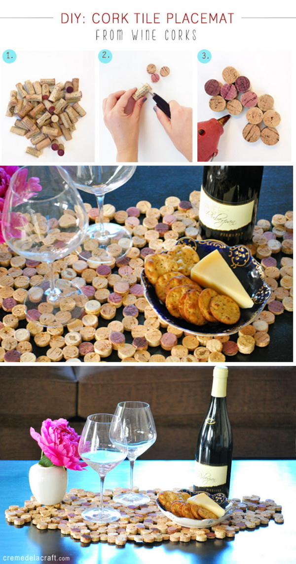 DIY Wine Cork Placemat.