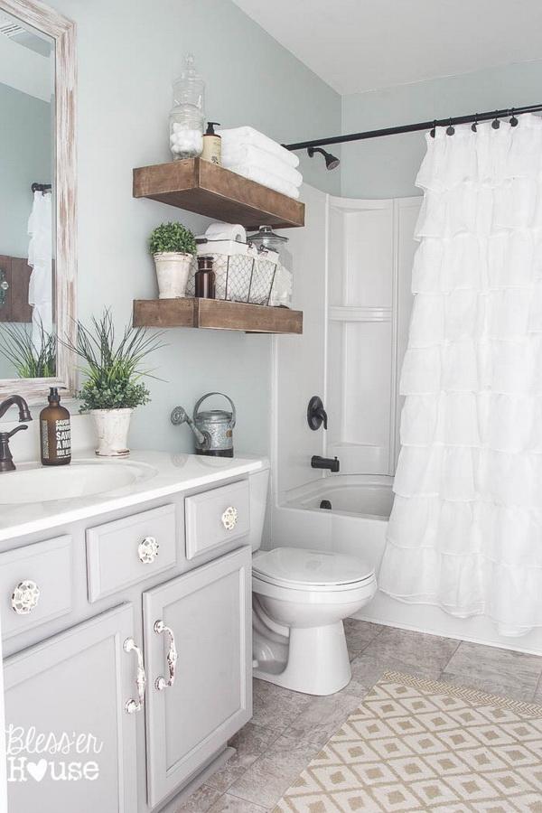 20+ Amazing Farmhouse Bathrooms with Rustic Warm - For ... on Rustic Farmhouse Farmhouse Bathroom  id=28460