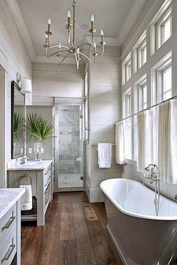 20+ Amazing Farmhouse Bathrooms with Rustic Warm - For ... on Rustic Farmhouse Bathroom  id=41436