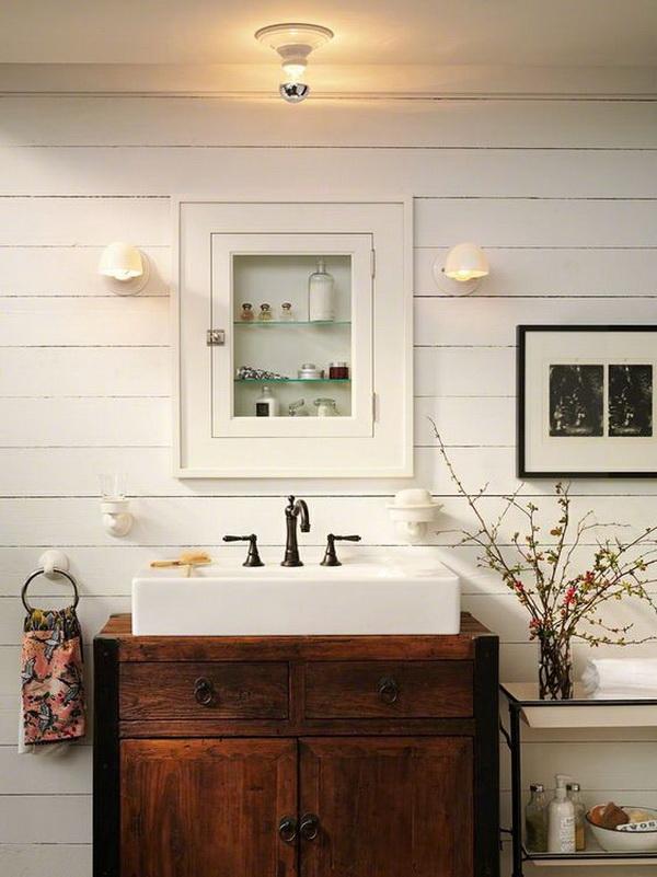 20+ Amazing Farmhouse Bathrooms with Rustic Warm - For ... on Farmhouse Bathroom  id=23506