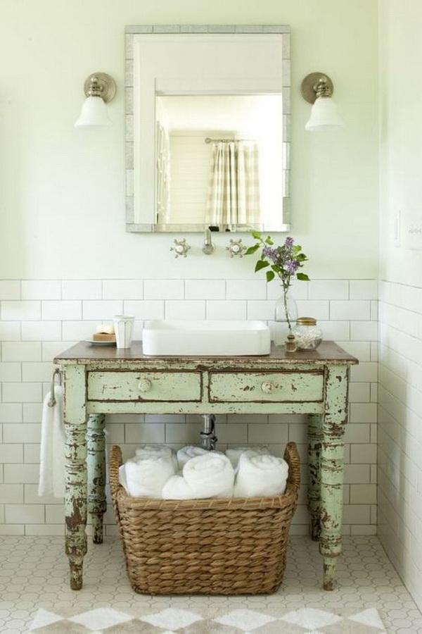20+ Amazing Farmhouse Bathrooms with Rustic Warm - For ... on Rustic Farmhouse Farmhouse Bathroom  id=56706