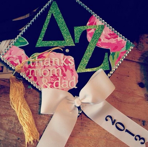 Sorority Graduation Cap. 30+ Awesome Graduation Cap Decoration Ideas.