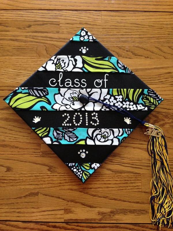 DIY College Graduation Cap Made from a Vera Bradley Napkin.