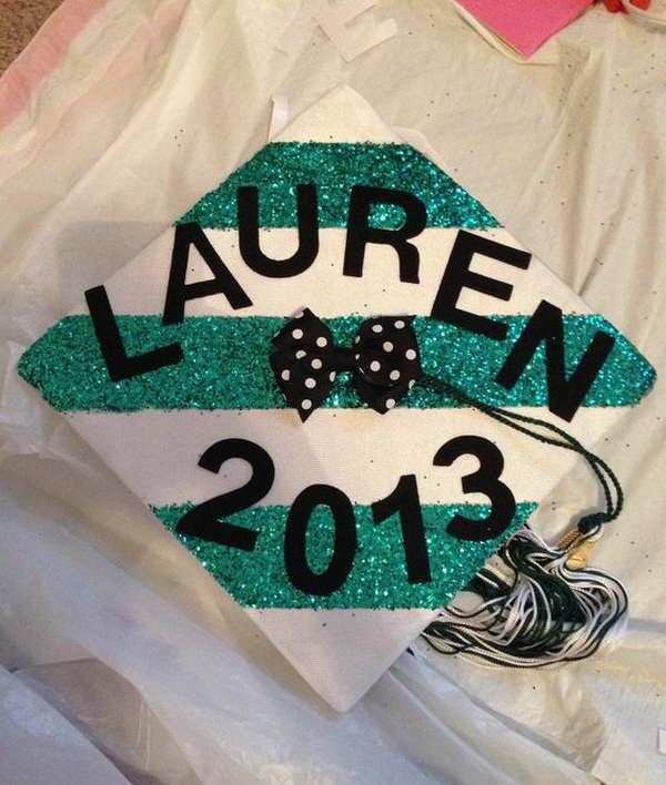 Sparkly Graduation Cap. 30+ Awesome Graduation Cap Decoration Ideas.