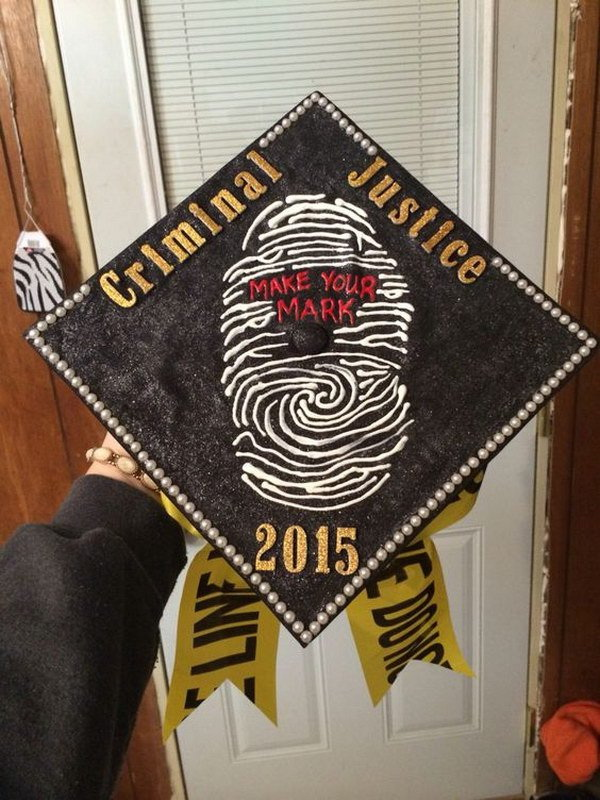 Criminal Justice Graduation Cap---40+ Awesome Graduation Cap Ideas.