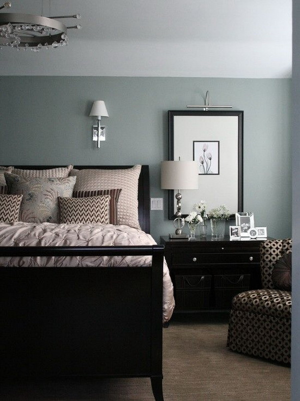 Blue Gray Painted Master Bedroom