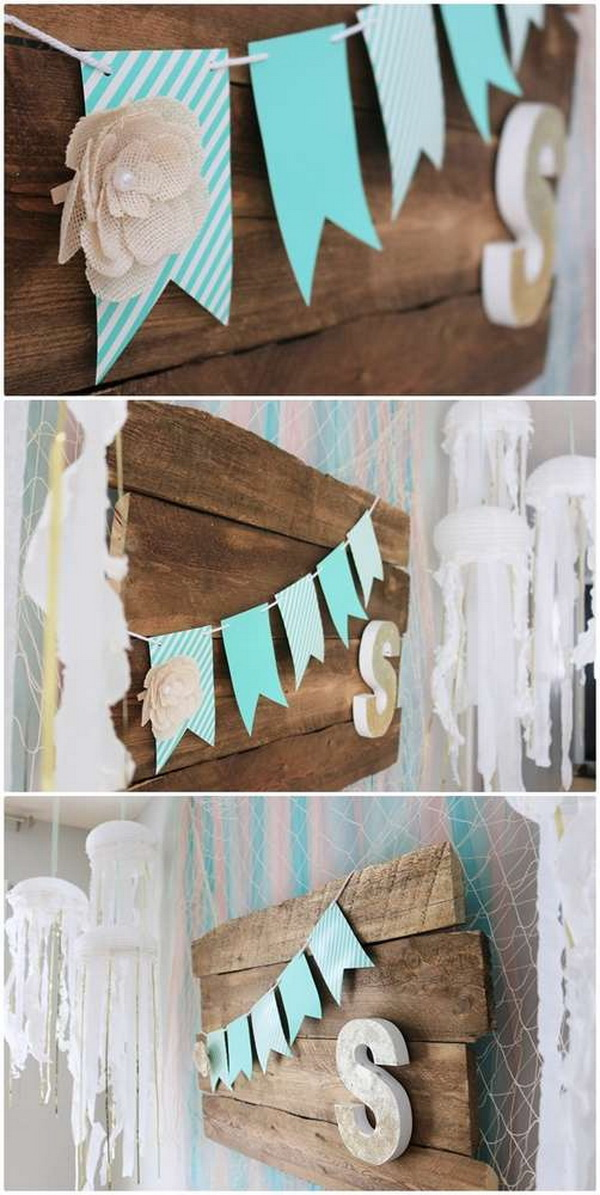 DIY Garland for Mermaid Party.