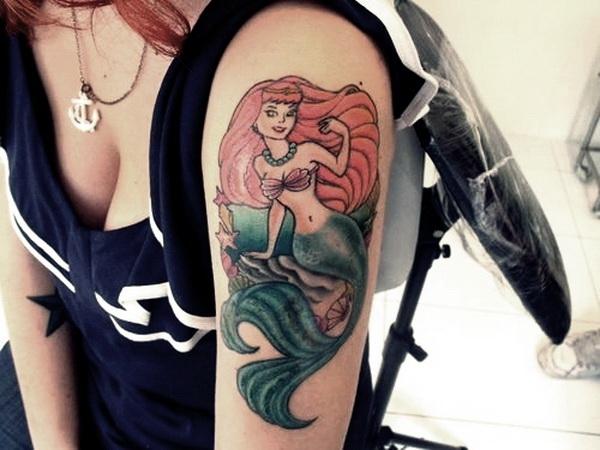 Fantastic Mermaid Tattoo on Sleeve.