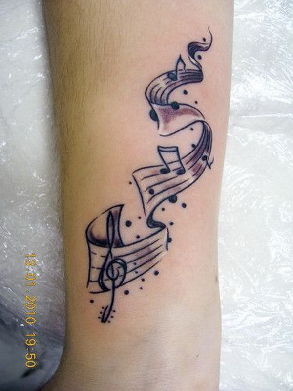 awesome music tattoos.