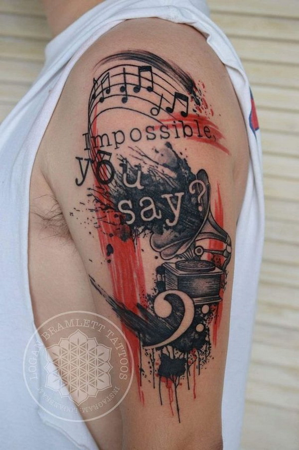 40 Simple Music Tattoos For Men - YouTube