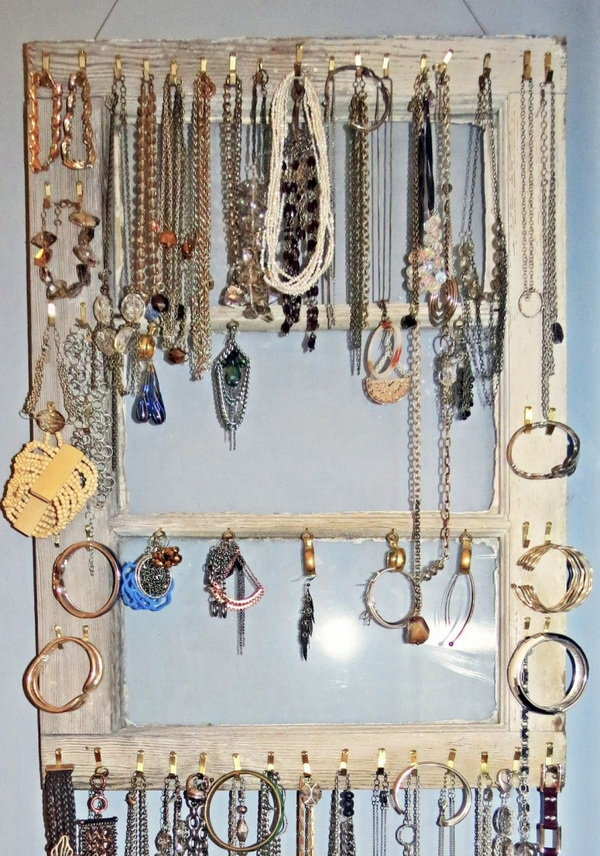 Jewellery Organizer with Old Windows.