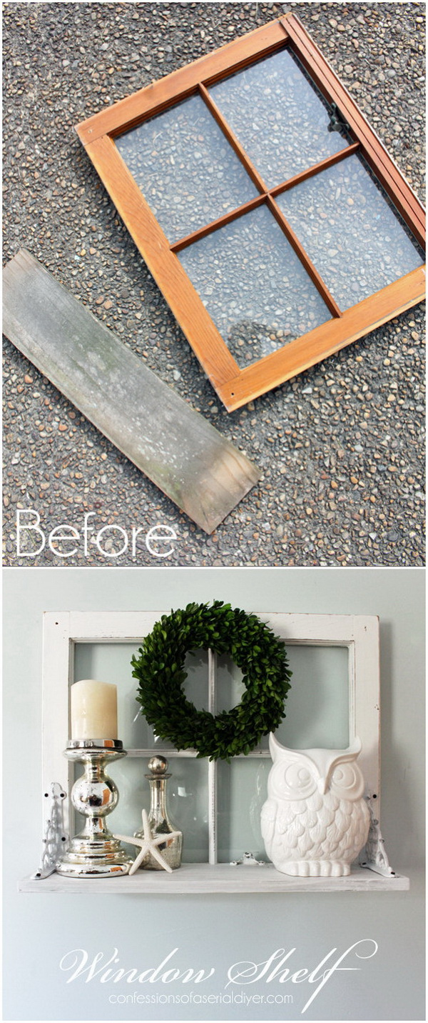 DIY Window Shelf.