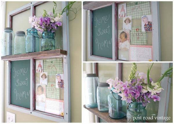 Chalkboard Picture Frame Shelf.