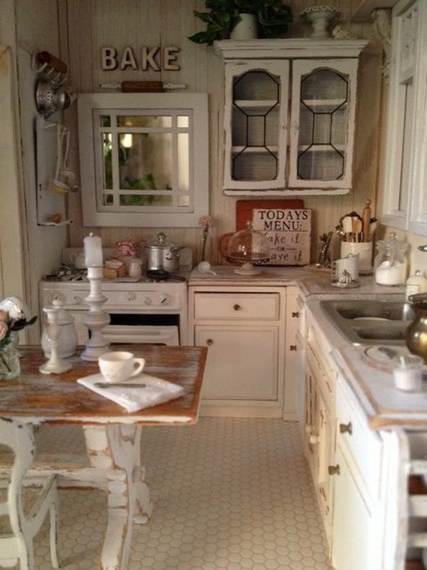 Shabby Chic Kitchen with Rustic Warm.