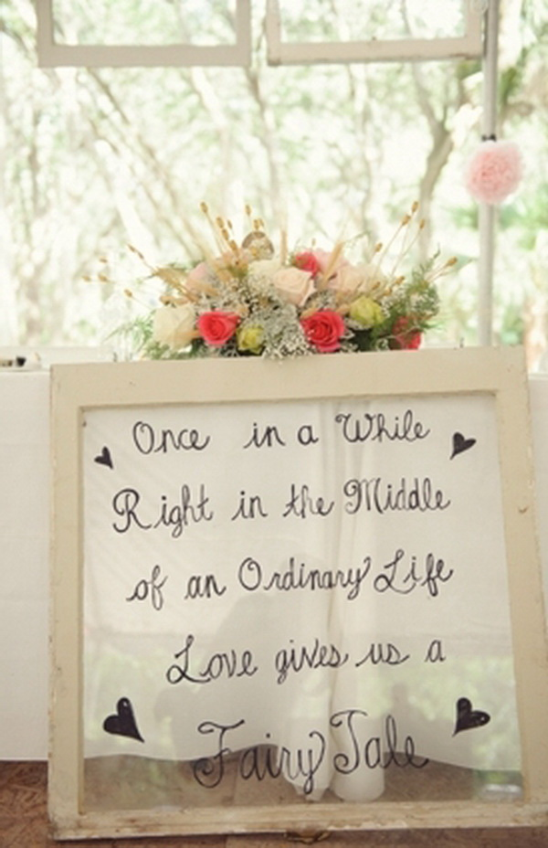 Shabby Chic Wedding Sign.