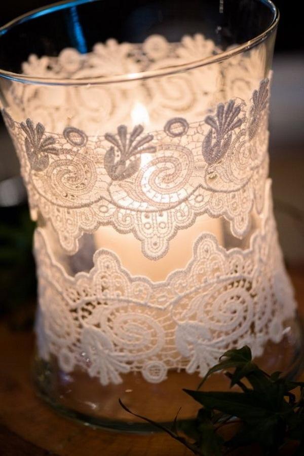 Gorgeous Lace Jars Candles.
