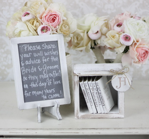 Rustic Guest Book Alternative for Shabby Chic Wedding Decor.