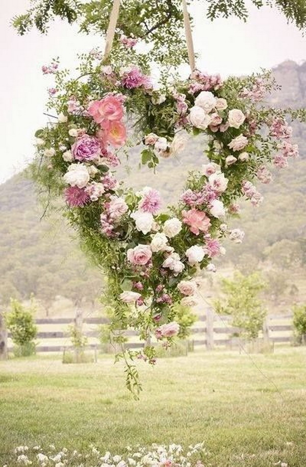 Heart Shaped Floral Wreath.