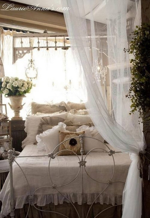 Romantic Shabby Chic & Vintage Bedroom.