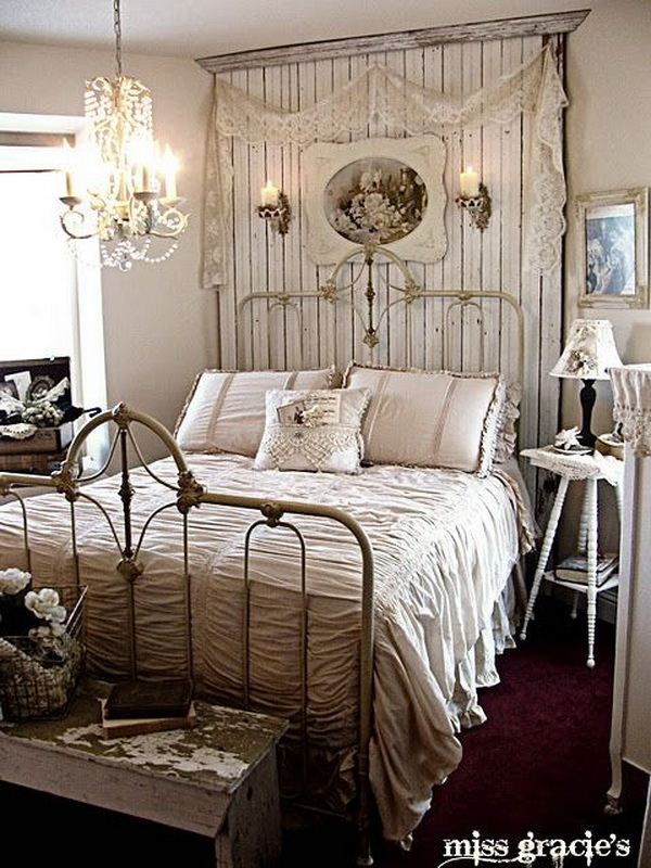 Rustic Chic Bedroom Decorationg Idea.